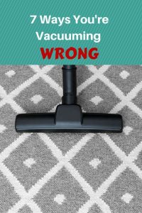 Wrong Vacumm cleaning