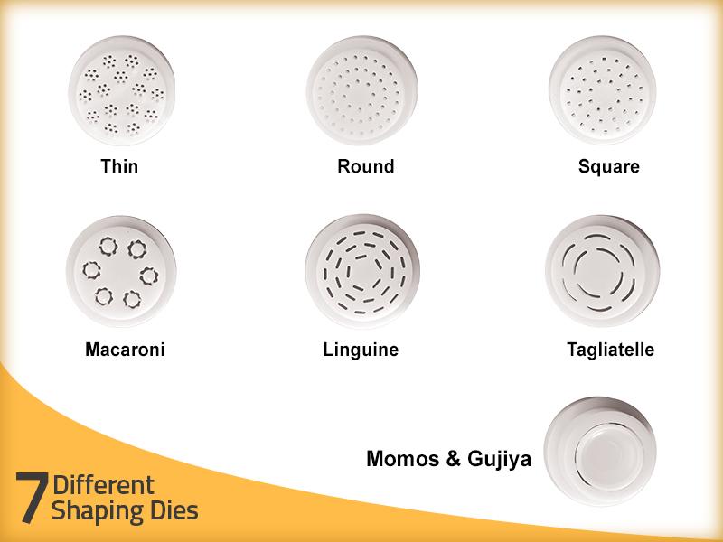 7 different Shaping Die of KENT Noodle and Pasta Maker
