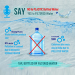 Say No To Plastic Bottled Water and Yes to Filtered Water