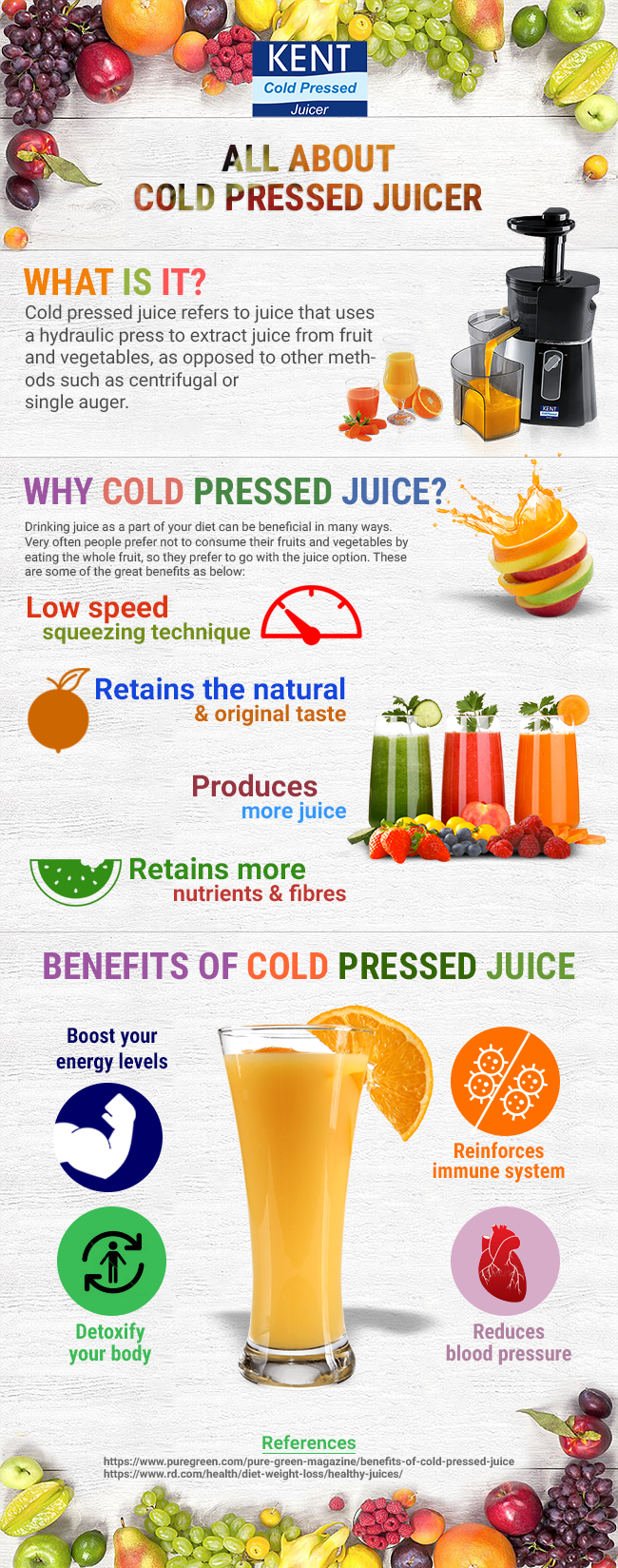 All About Cold pressed Juicer - Infographic