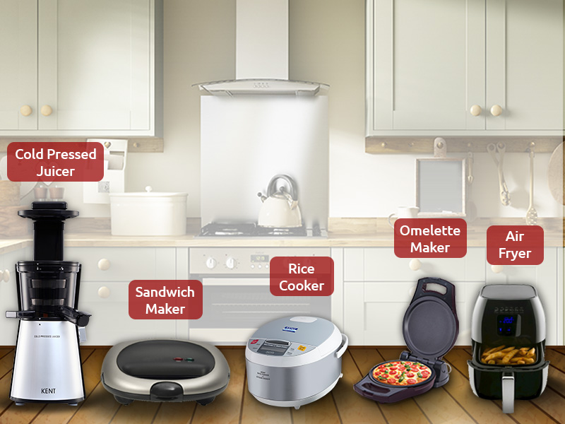 5 must have modern kitchen appliances for bachelors for for Must have appliances