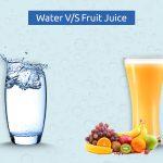 water vs fruit juice