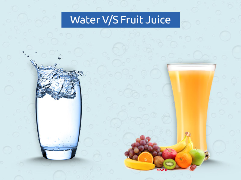 water vs fruit juice