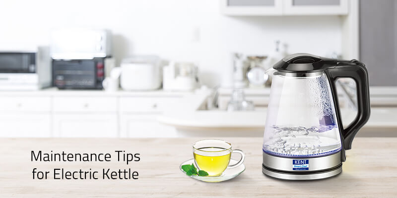 Maintenance tips for electric kettles