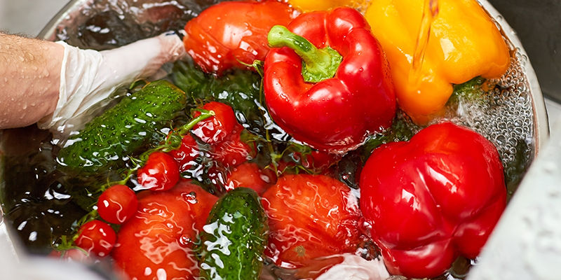 Cleaning of fruits and vegetables