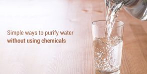 How to purify water without using chemicals