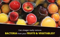 Is vinegar effective for Killing bacteria on fruits and vegetables