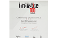 Innovative 100 - Certificate of Excellence - 2013