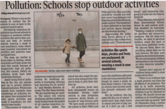 Pollution: Schools stop outdoor activities