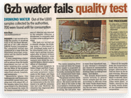 Gzb water fails quality test