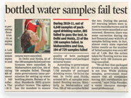 Bottled Water Samples Fail Test