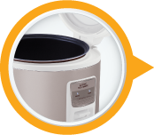 High Quality Aluminium Inner Pot 3L Electric Rice Cooker