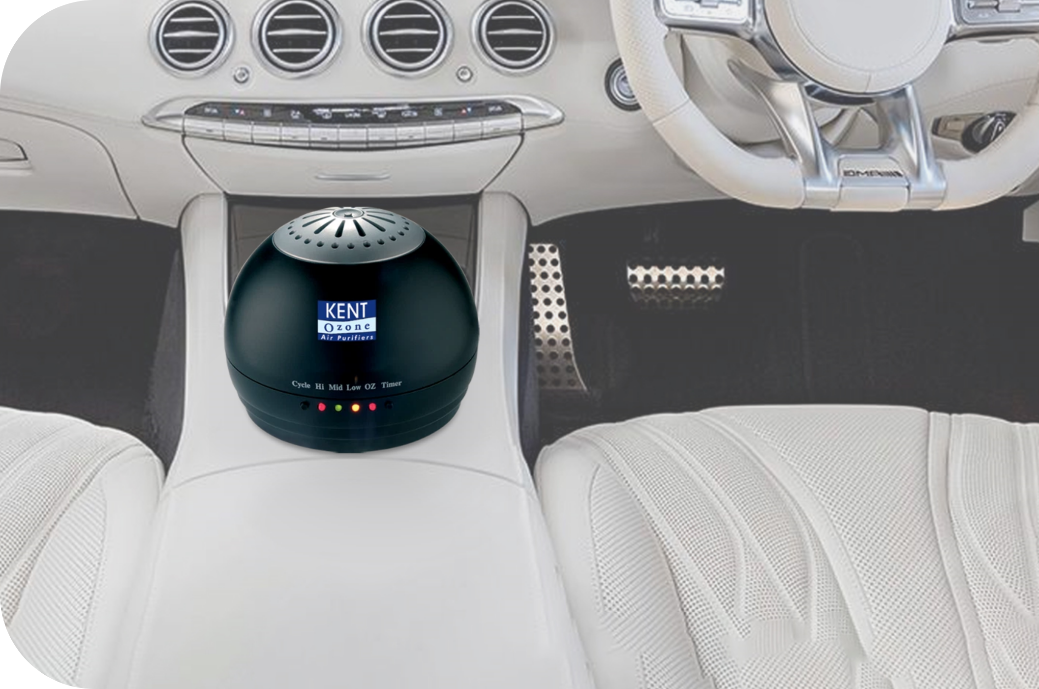 KENT Portable Ozone Air Purifier for Car, Room and Washroom
