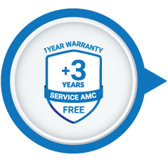 1 Year Warranty + 3 Years Free Service AMC