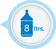 8 Litres Water Storage Capacity