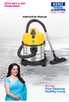 KENT Wet & Dry Vacuum Cleaner Manual