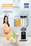 Digital Power Blender User Manual